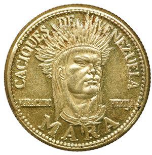 obverse: Venezuela Gold Medal Caciques. 2,2 gr. 18,2. FDC