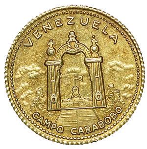 reverse: Venezuela Gold Medal 1963. 3,20 gr. 17,6. Campo Carabobo. FDC