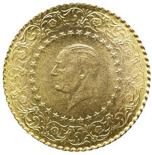 obverse: Turkey 25 Kurush 1956. 1,75 gr. - 17,9 mm. KM# 870. MS