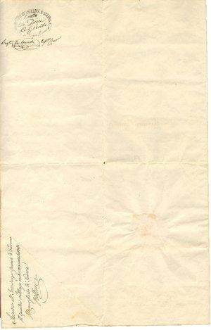 reverse: Torino. 1827. Manoscritto con firma autografa di Carlo Felice Re di Sardegna. Documento di promozione a luogotenente.