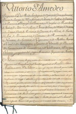 reverse: Torino. 7 Febbraio 1784. Pergamena del 1700 con firma Autografa di Vittorio Amedeo III di Savoia Re di Sardegna, di Cipro e di Gerusalemme; decreto Reale, nomina a Maggiore di Baldassare De Fillier della città di Aosta. Vittorio Amedeo III di Savoia (Torino, 26 giugno 1726 – Moncalieri, 16 ottobre 1796) , duca di Savoia, Piemonte e Aosta e re di Sardegna dal 1773 al 1796. Figlio di Carlo Emanuele III e di Polissena d Assia-Rotenburg, sposò nel 1750 Maria Antonietta di Borbone-Spagna (1729-1785), la figlia più giovane di Filippo V di Spagna e Elisabetta Farnese. Salì al trono nel 1773.