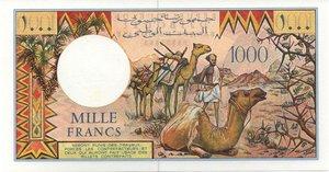 reverse: DJIBOUTI 1000 FRANCS SENZA DATA