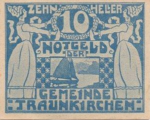 reverse: Germany NOTGELD 10 HELLER 1920