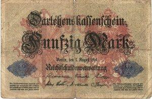 obverse: Germany - 50 MARK 1914