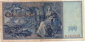 reverse: Germany - 100 MARK 1908 RARA P,557 35