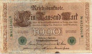 obverse: Germany - 1000 MARK 1910
