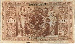 reverse: Germany - 1000 MARK 1910