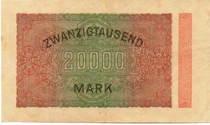 reverse: Germany - 20000 MARCHI 1923