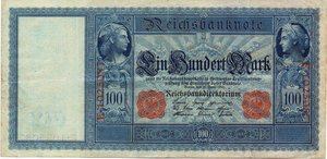 obverse: Germany 100 MARCHI 1910