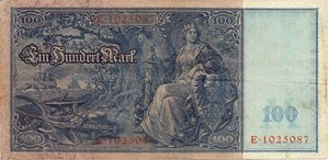 reverse: Germany 100 MARCHI 1910