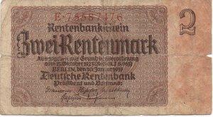 obverse: Germany - 2 RENTENMARK 1937