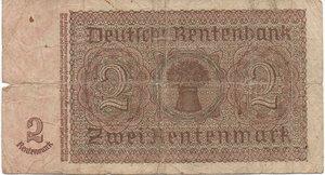 reverse: Germany - 2 RENTENMARK 1937