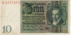 obverse: Germany - 10 REICHSMARK 1929
