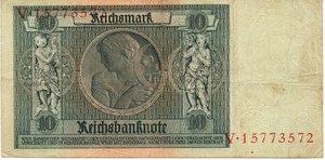 reverse: Germany - 10 REICHSMARK 1929