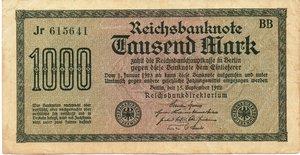 obverse: Germany - 1000 MARK 1922
