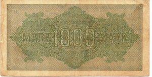reverse: Germany - 1000 MARK 1922