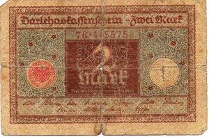 obverse: Germany - 2 MARK 1920