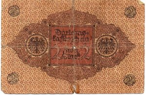 reverse: Germany - 2 MARK 1920