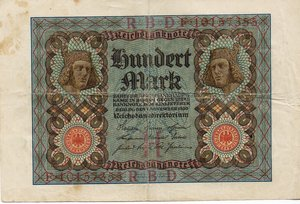 obverse: Germany - 100 MARKS 1920