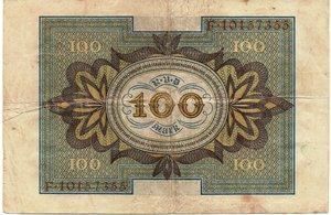 reverse: Germany - 100 MARKS 1920