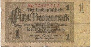 obverse: Germany - 1 RENTENMARK 1937