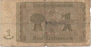 reverse: Germany - 1 RENTENMARK 1937