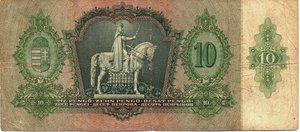 reverse: Hungary 10 PENGO 1936