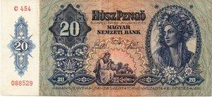 obverse: Hungary 20 PENGO 1941