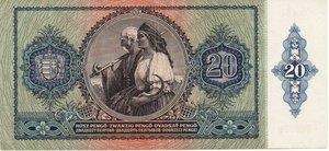 reverse: Hungary 20 PENGO 1941