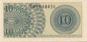 reverse: INDONESIA 10 SEN 1964