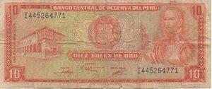 obverse: PERU  10 SOLES DE ORO 1976