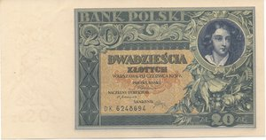 obverse: POLONIA - 20 ZLOTYCH 1931