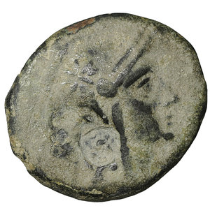 obverse: Mysia. Pergamon. 2nd-1st century BC. Bronze. 3.15 gr. – 17.7 mm. O:\ Helmeted head of Athena right, helmet decorated with star. R:\ AΘHNAΣ NIKHΦOΡOY; Owl, with wings spead, standing right, head facing, on palm branch; between to monograms. SNG BN 1909 var. VF\XF