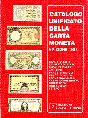 obverse: Catalogo unificato della cartamoneta. Edizioni Alfa. 1981. Pag. 120.