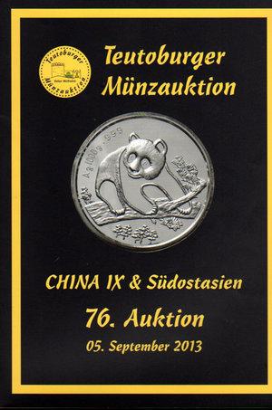 obverse: Auction catalogue. Teutoburger Munzauktion. N°. 76. China & Sudostasien. 05 September 2013. Pag. 174