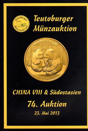 obverse: Auction catalogue. Teutoburger Munzauktion. N°. 74. China & Sudostasien. 23 Mai 2013. Pag. 151