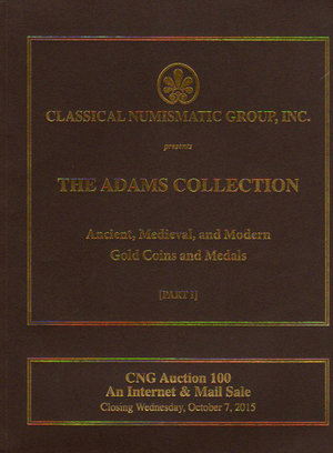 obverse: Auction catalogue. CNG. The Adams Collection. Ancient, medieval and Modern Gold Coins and Medals.. 07.10.2015. Pag. 288