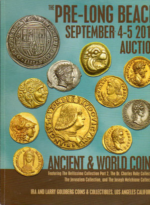 obverse: Auction Catalogue. Ira & Larry Goldberg coin. Pre-Long beach auction. 4-5 September 2012. pag. 259