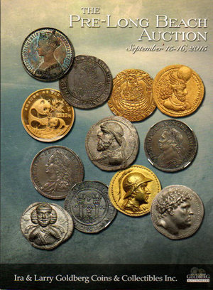 obverse: Auction Catalogue. Ira & Larry Goldberg coin. Pre-Long beach auction. 15-16 September 2015. pag. 210