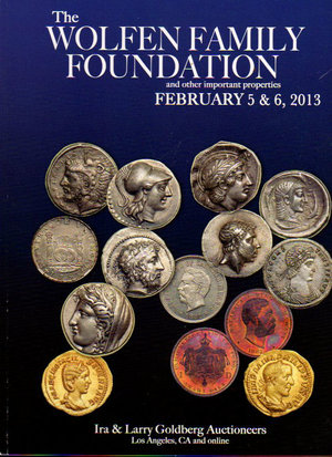 obverse: Auction catalogue. Ira & Larry Goldberg Coins. 5-6 February 2013. The Wolfen Family Foundation. Pag. 280