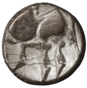 reverse: Eastern Europe. Imitations of Philip II of Macedon 100 BC. Drachm. 12mm - 1,62 gr. O:\ Stylized laureate head of Zeus right. R:\ Stylized horse prancing left. OTA 204/1-2. XF