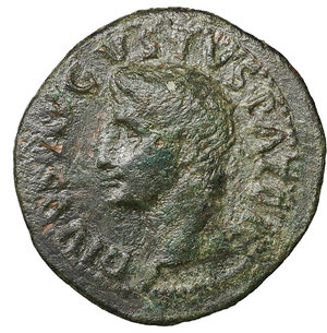 obverse: Divus Augustus. Æ As. Struck under Tiberius. 31-37 AD. 10.95 gr. – 30.9 mm. O:\ DIVVS AVGVSTVS PATER, radiate head left. R:\ S-C either side of large altar, PROVIDENT in ex. Cohen 228; RIC 81 (Tiberius) aXF