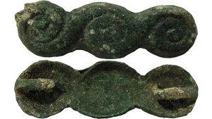 obverse: CHINA. ZHOU DYNASTY 1122-255 BC. PRIMITIVE MONEY. 16x50 mm - 9 gr 中国,周朝,公元前1122-255,原始货币。
