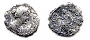 obverse: FAUSTINA figlia, Roma. AR Denarius (3,40 gr.). R.\: CONCORDIA. MB.