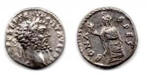 obverse: SETTIMIO SEVERO (193-211). AR Denarius (3,22 gr.). R.\: BONA SPES. BB.