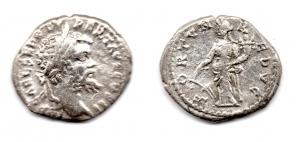 obverse: SETTIMIO SEVERO (193-211). AR Denarius (3,22 gr.). R.\: FORTVNA REDVCI. C.185. qBB.