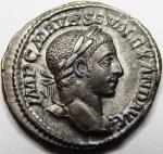 obverse: ALESSANDRO SEVERO(222-235), Roma. AR Denarius (2,98 gr. – 17 mm.) - R.\: VICTORIA AVG. C. 556. SPL-qSPL.