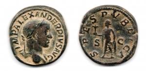 obverse: ALESSANDRO SEVERO(222-235), Roma. AE Sestertius (30,34 gr. - 31,3 mm.). R.\: SPES PVBLICA. qBB.