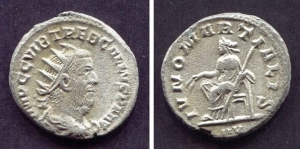 obverse: TREBONIANO GALLO (250-253). Ar Antoninianus (4,3 gr. – 21 mm.). R.\: IVNONI MARTIALI. BB. R. (ex Lanz auction)
