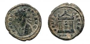 obverse: PROBO (276-282). AE Antoninianus (3,41 gr. - 22,1 mm.). R.\: ROMA AETER. C. 556. MB.